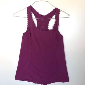 Lululemon Purple Laser Cut Tank